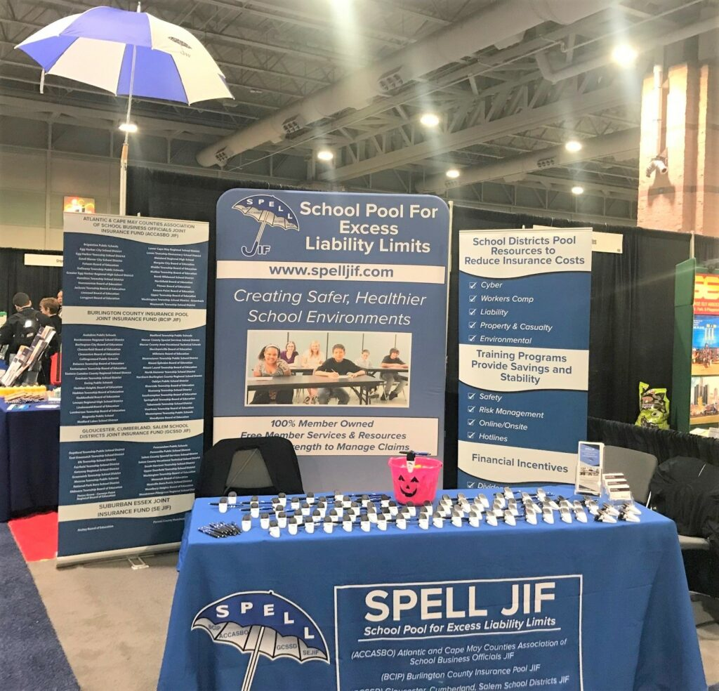 SPELL JIF NJSCA Convention Trade Show Booth