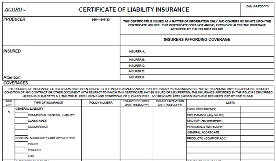 Certificate of Insurance Guidelines - SPELL JIF
