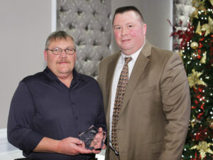 Safety Star of the Year Joe Nichols and Business Administrator Joe Collins from Elk Twp School District