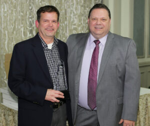 William McKee of Northern Burlington SD and JIF Safety Director John Geitz