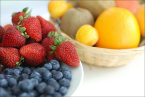 Bowl of fruit health and wellness